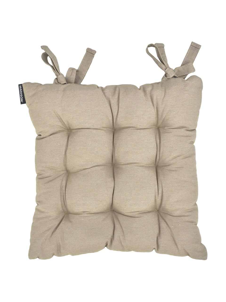 Poduszka na siedzisko Panama, Tapicerka: 50% bawełna, 45% polieste, Odcienie piaskowego, S 45 x D 45 cm