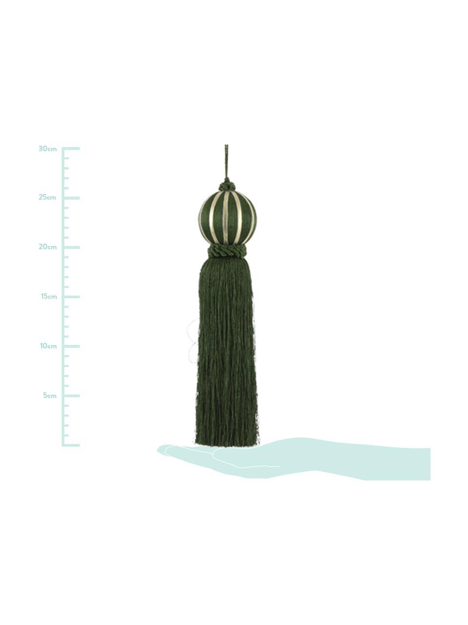 Nappa decorativa Asena 2 pz., Poliestere, Verde scuro, Ø 6 x Alt. 27 cm