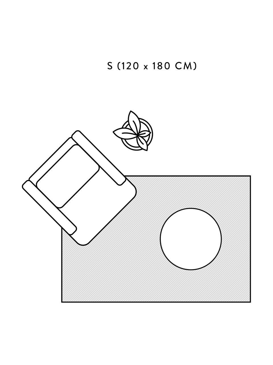 Handgewebter Viskoseteppich Jane in Dunkelblau, Flor: 100% Viskose, Dunkelblau, B 160 x L 230 cm (Größe M)