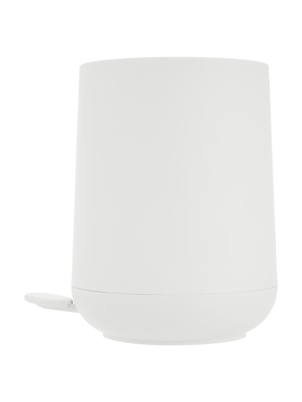 Afvalemmer Nova, Kunststof, Wit, Ø 23 x H 29 cm