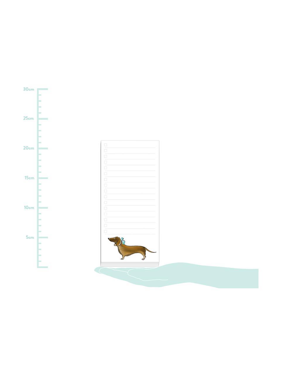 Bloc de notas Dackel, Papel, 120g/m², Blanco, multicolor, An 10 x Al 21 cm