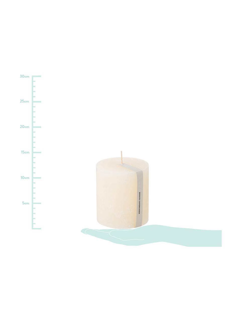 Stumpenkerze Rustic, Paraffin, Weiß, Ø 10 x H 11 cm