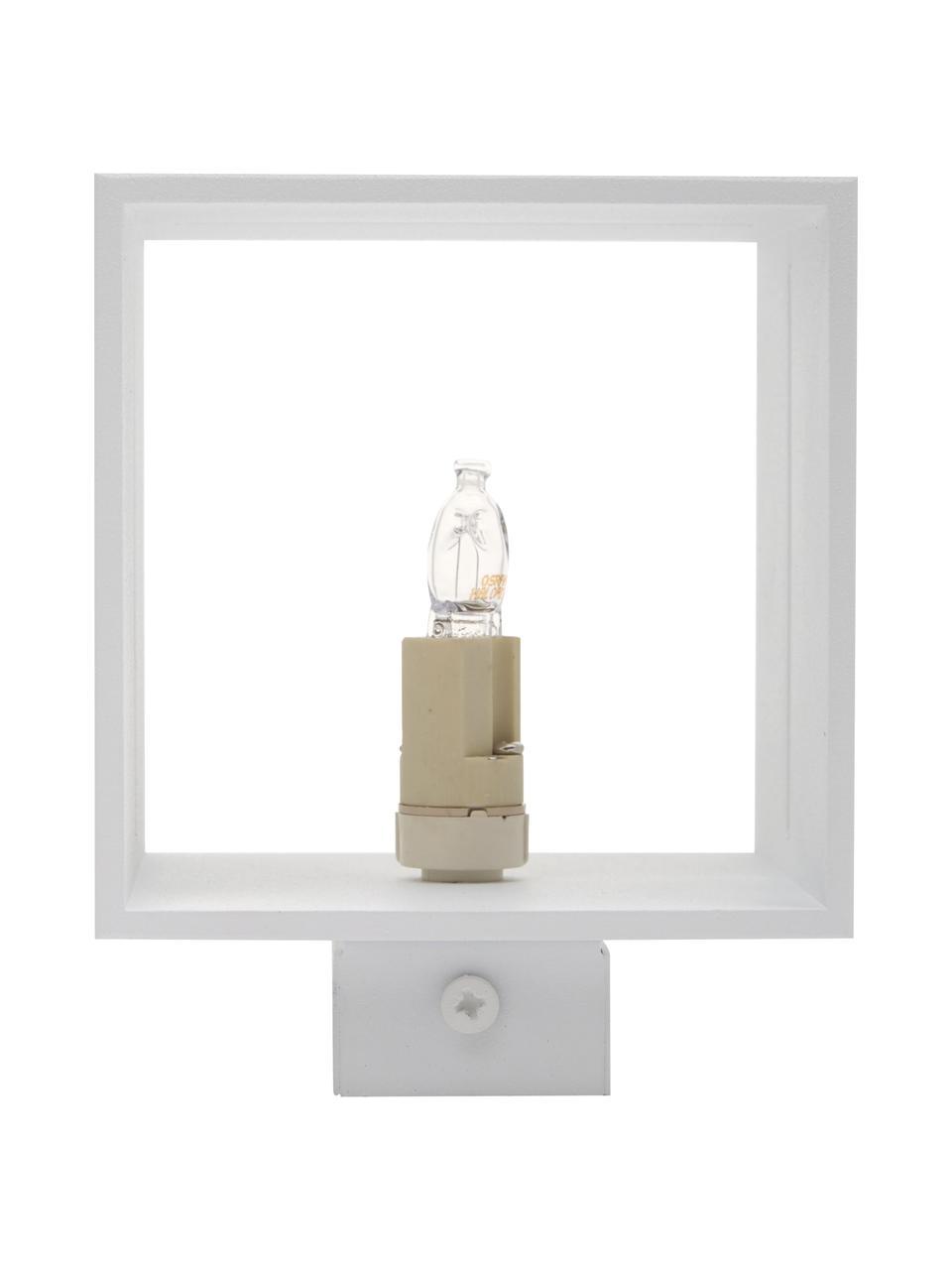 Applique Lorum, Paralume: alluminio, Bianco, Larg. 10 x Alt. 10 cm