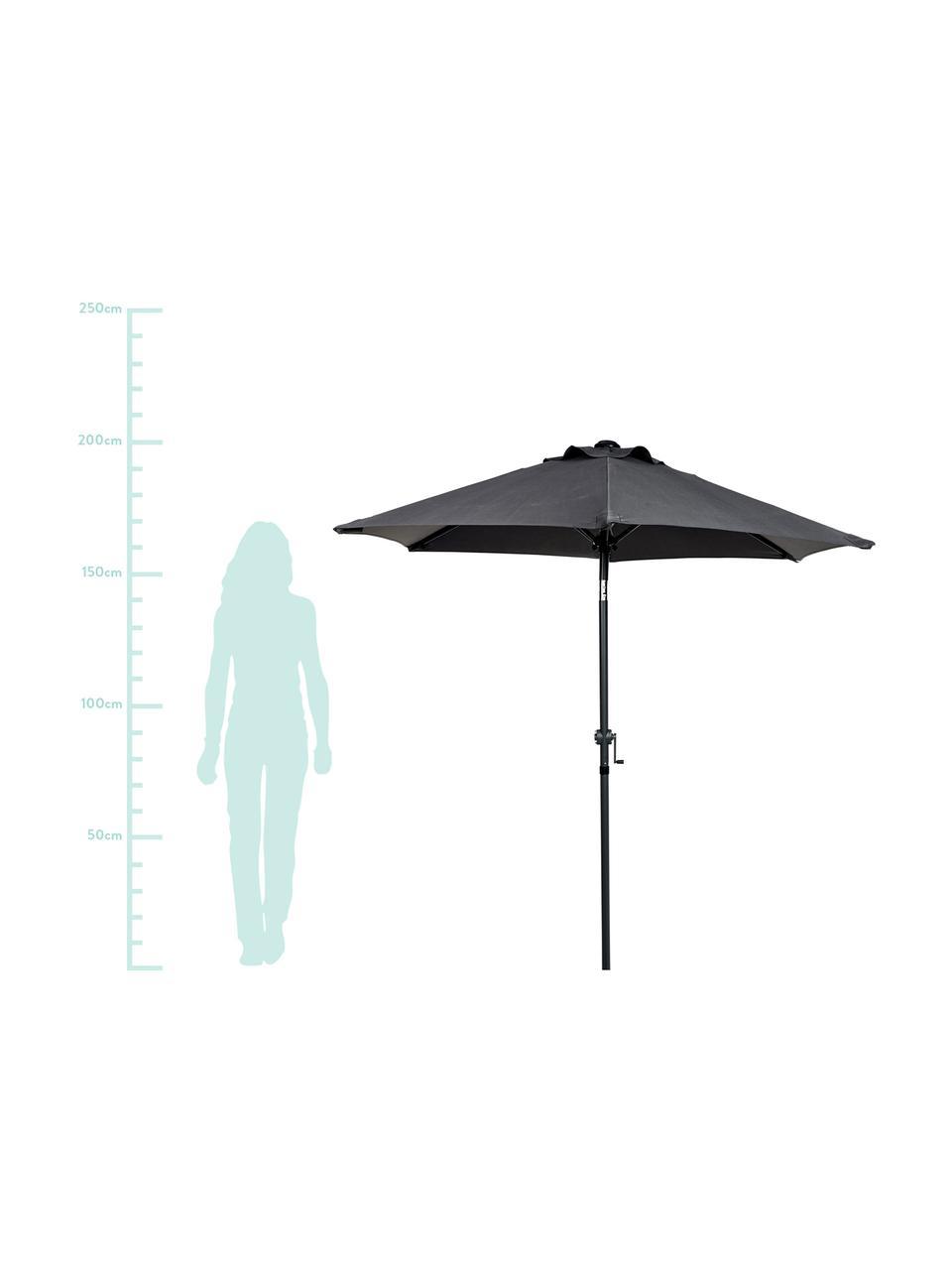 Parasol Siesta, Anthracite, noir