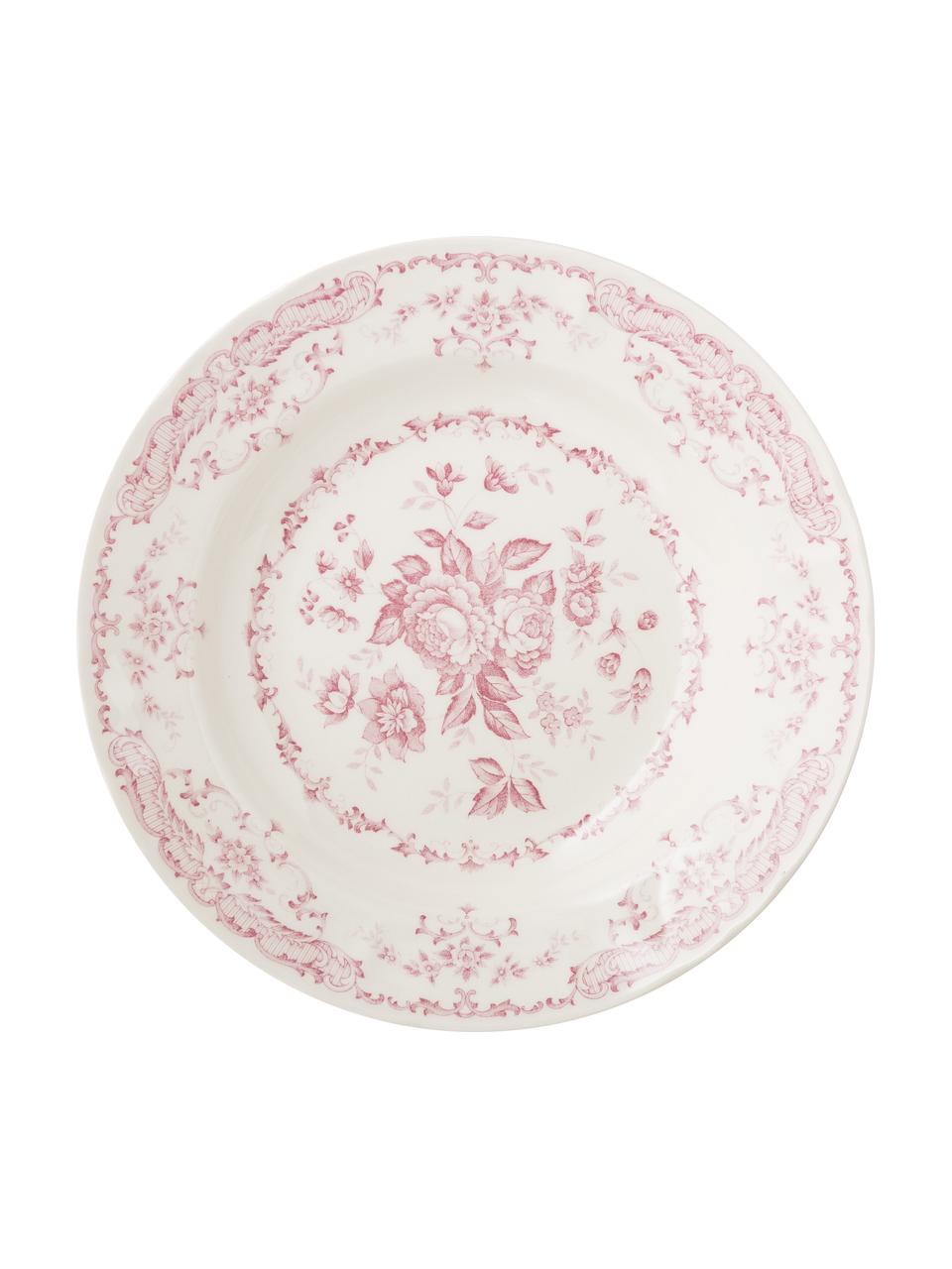 Service de table céramique Rosa, 6personnes (18élém.), Blanc, rose