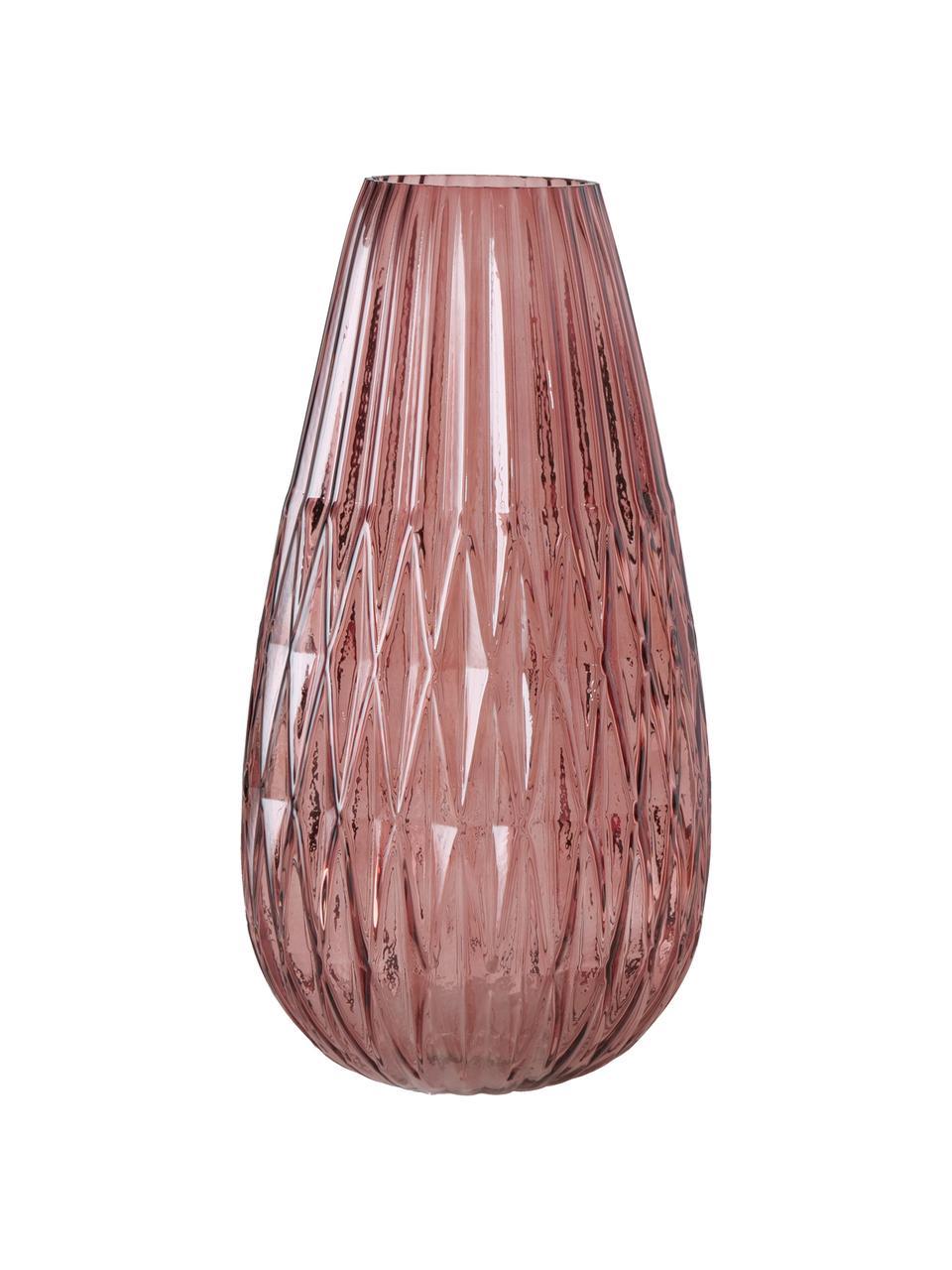 Vaso in vetro Rubina, Vetro colorato, Rosa, Ø 20 x Alt. 36 cm