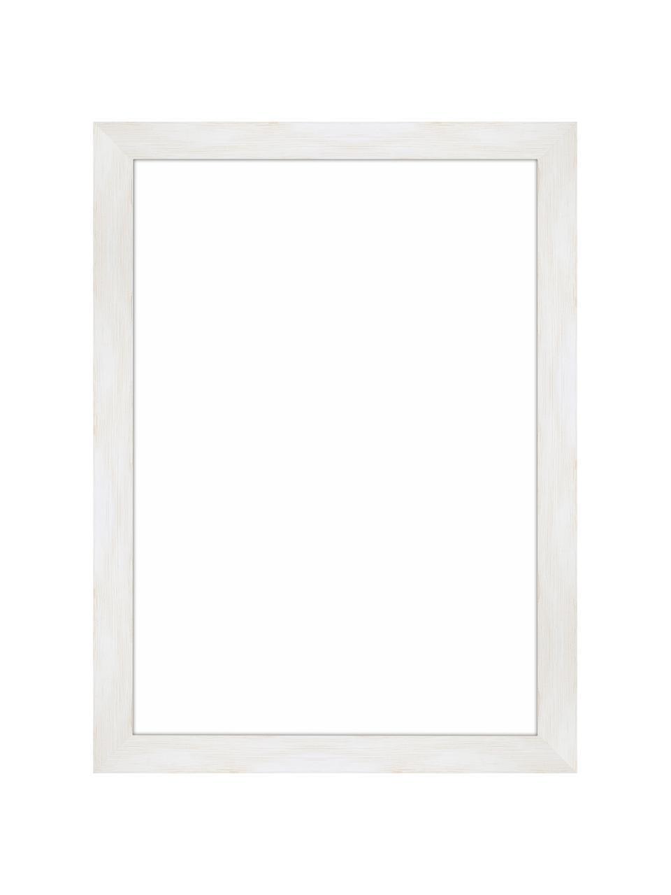 Bilderrahmen Magic, Rahmen: Monterey-Kiefernholz, lac, Front: Glas, Rückseite: Mitteldichte Holzfaserpla, Weiß, 21 x 30 cm