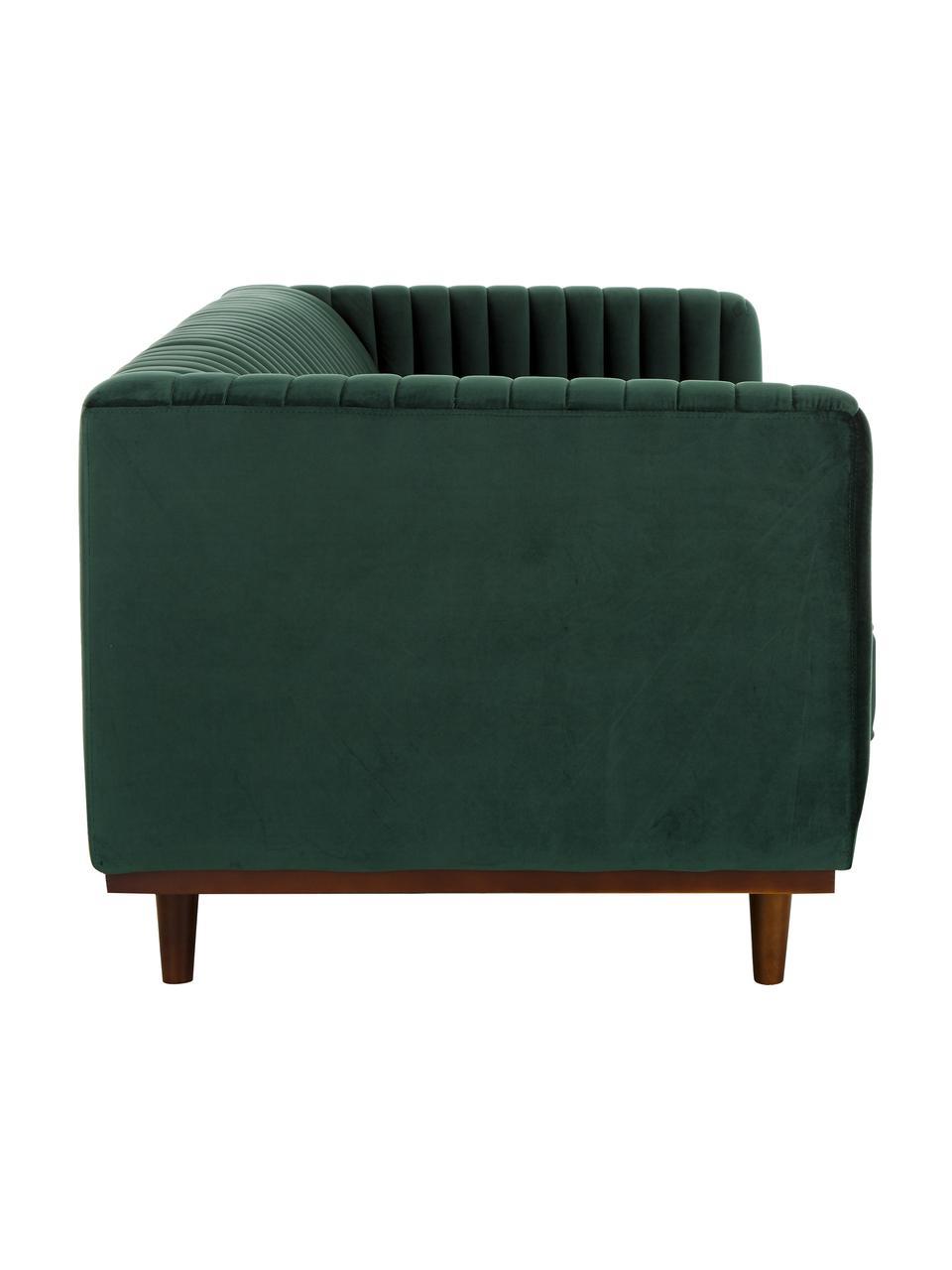 Canapé 2places velours vert Dante, Velours vert