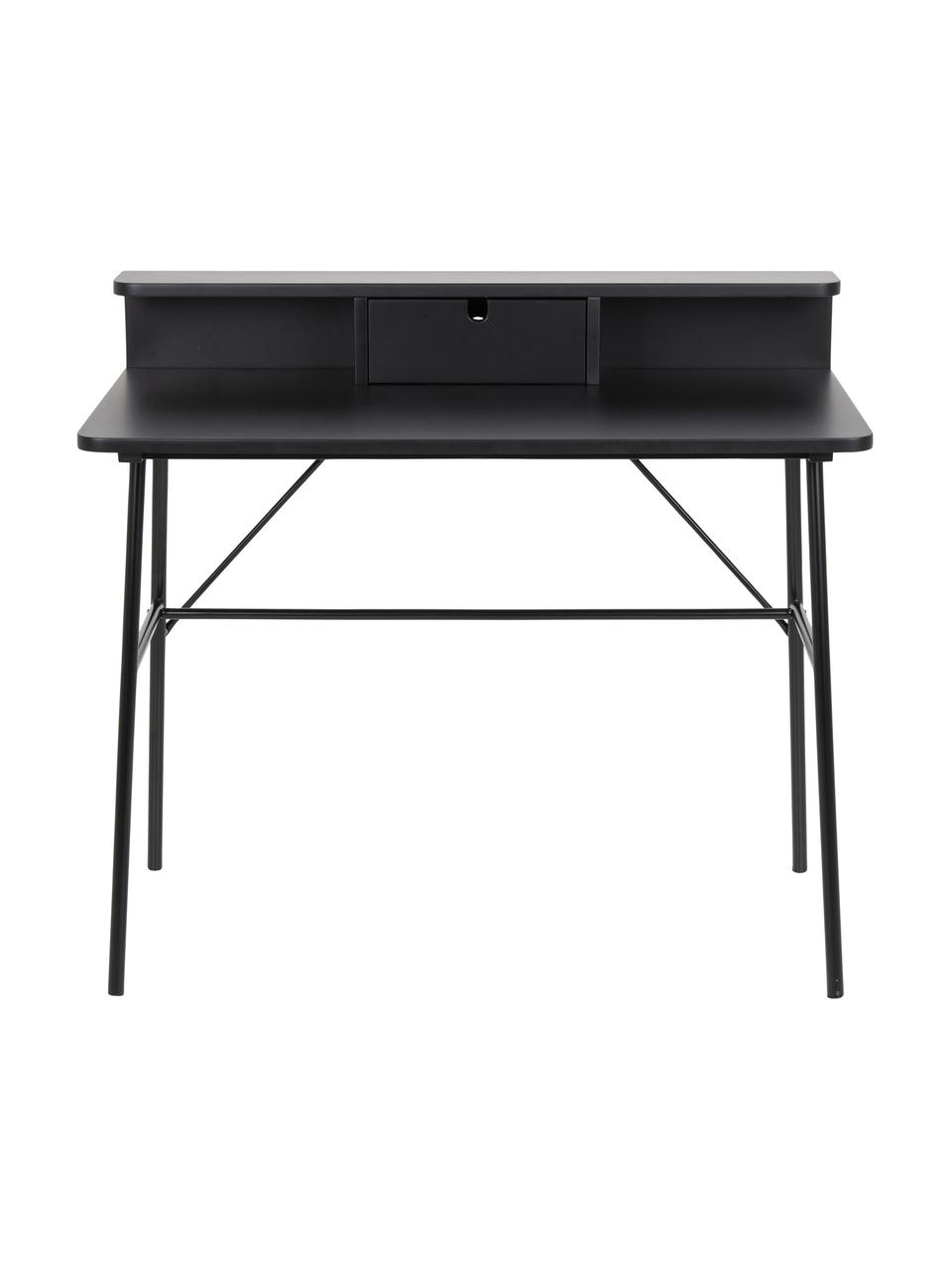 Bureau avec tiroir Pascal, Noir