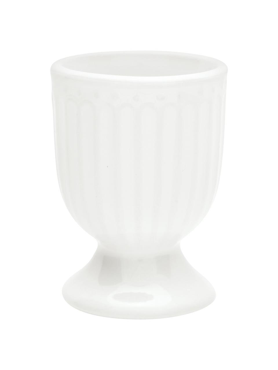 Coquetiers en porcelaine Alice, 2pièces, Blanc