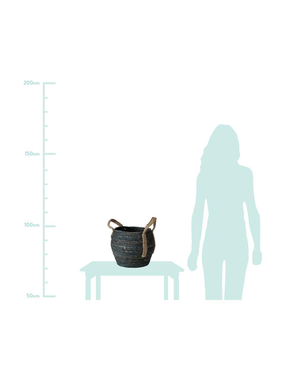 Handgefertigtes Aufbewahrungskörbe-Set Takeo, 3-tlg., Griffe: Jute, Schwarz, Sondergrößen
