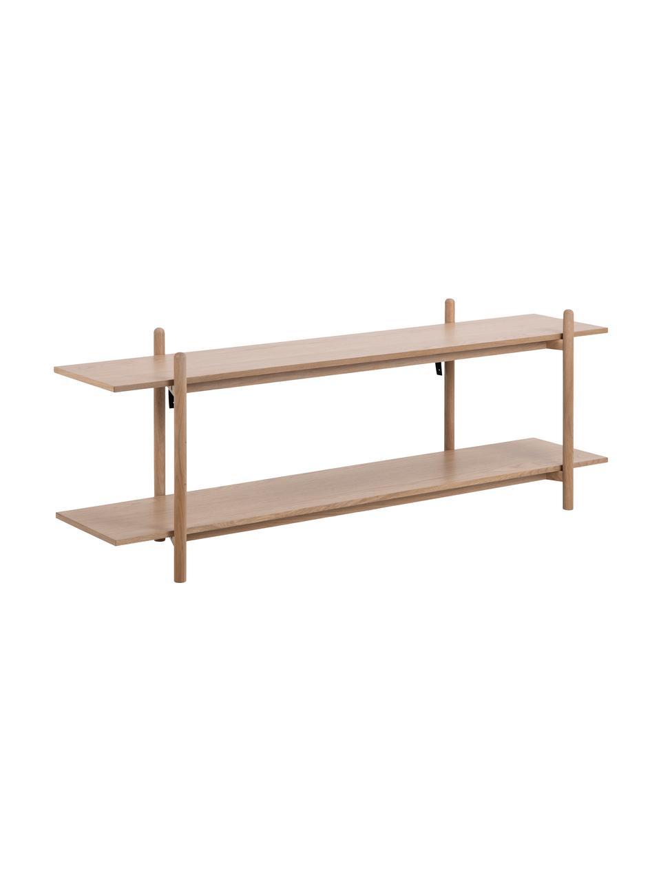 Szafka niska z drewnianymi półkami Asbaek, Płyta pilśniowa (MDF), fornir z drewna dębowego, Brązowy, S 150 x W 55 cm