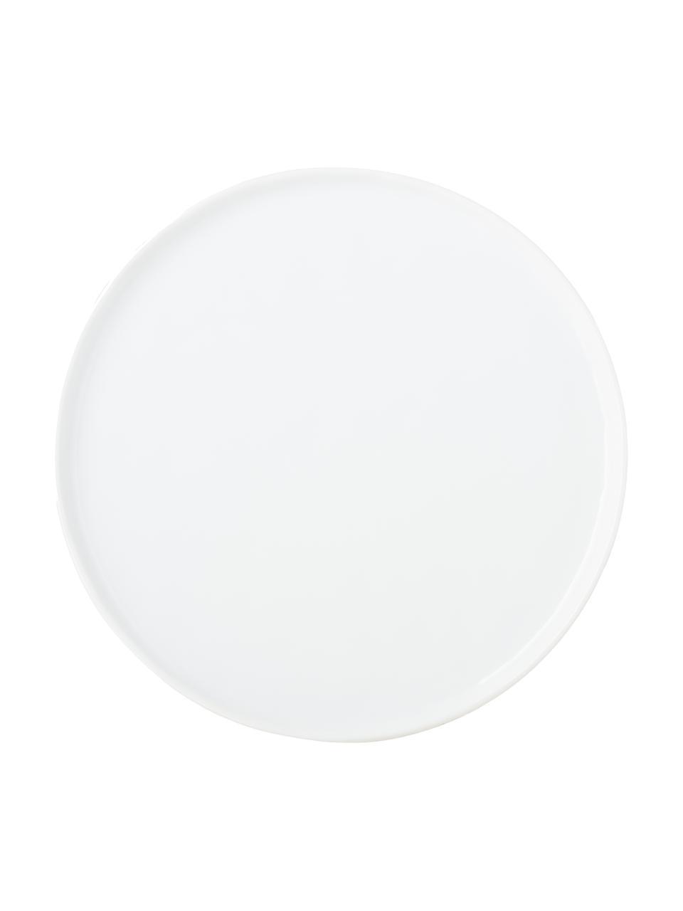 Dinerborden Porcelino, 4 stuks, Porselein, Wit, Ø 27 cm