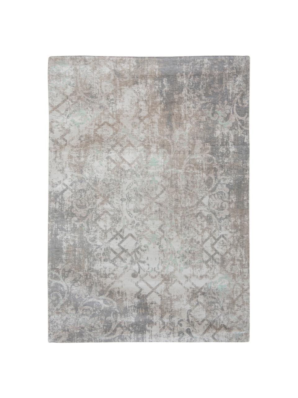 Dywan szenilowy vintage Babylon, Szary, beżowy, S 170 x D 240 cm (Rozmiar M)