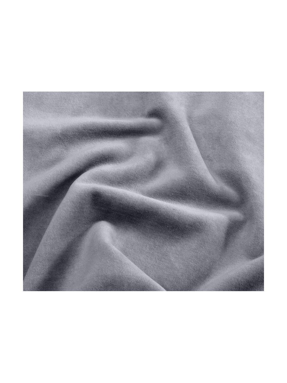 Einfarbige Samt-Kissenhülle Dana in Dunkelgrau, Baumwollsamt, Dunkelgrau, 30 x 50 cm