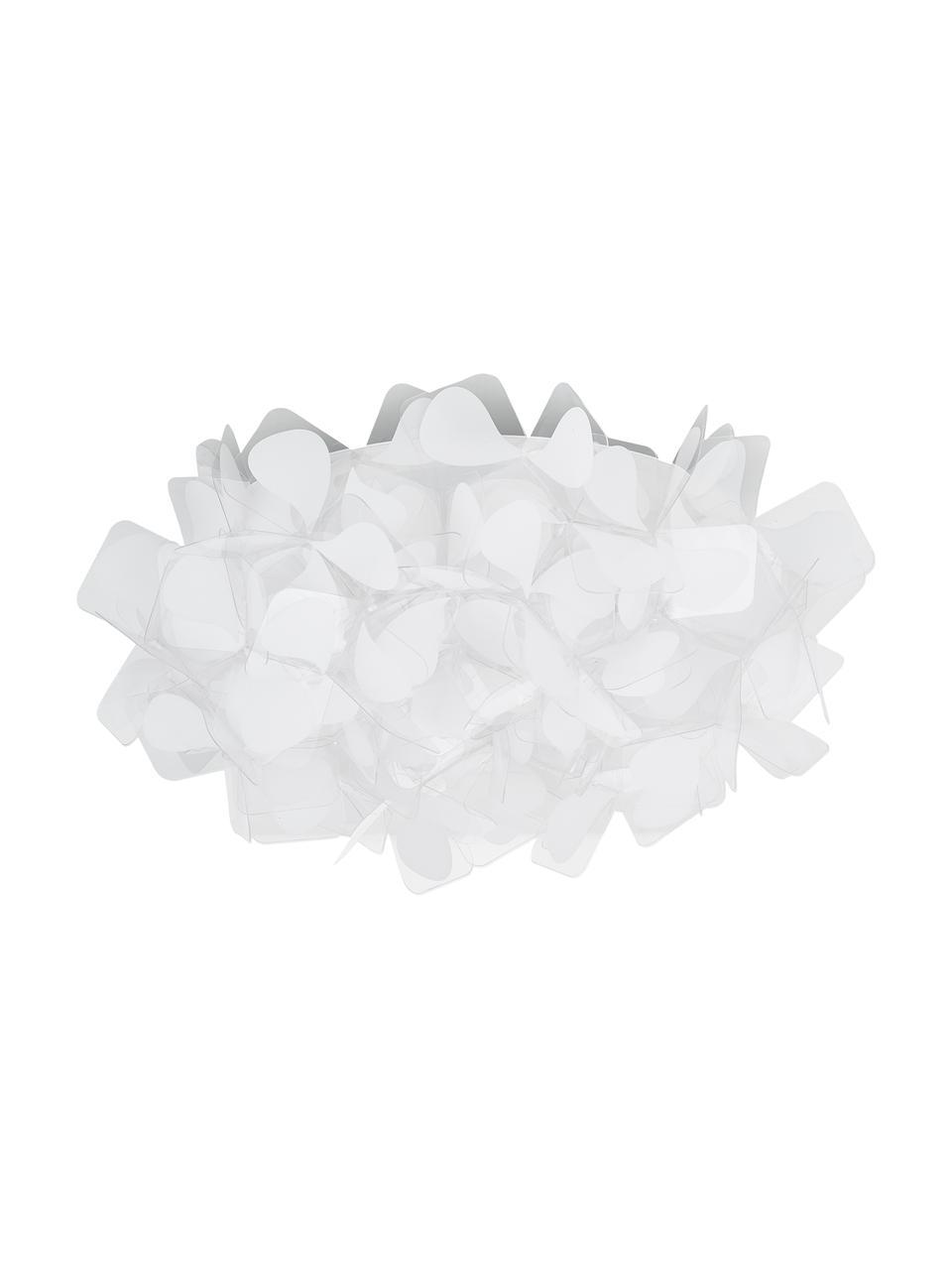 Design Deckenleuchte Clizia Mama aus Kunststoff, Lampenschirm: Technopolymer Opalflex®, Weiß, Grau, Ø 53 x H 20 cm