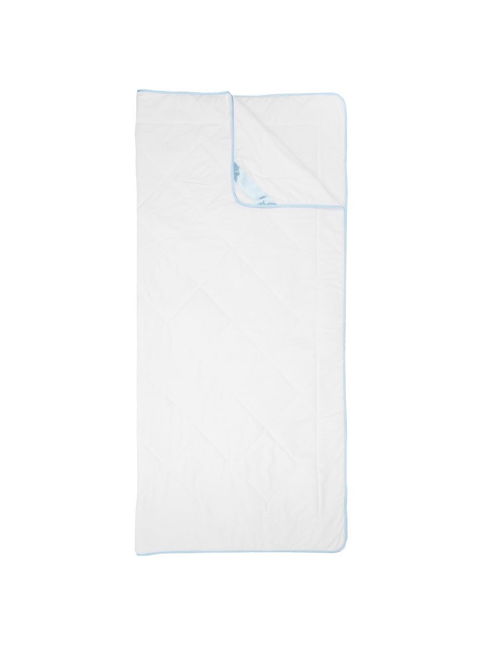 Microfaser-Bettdecke, leicht, Bezug: Microfaser mit Rautenstep, Weiß, 135 x 200 cm