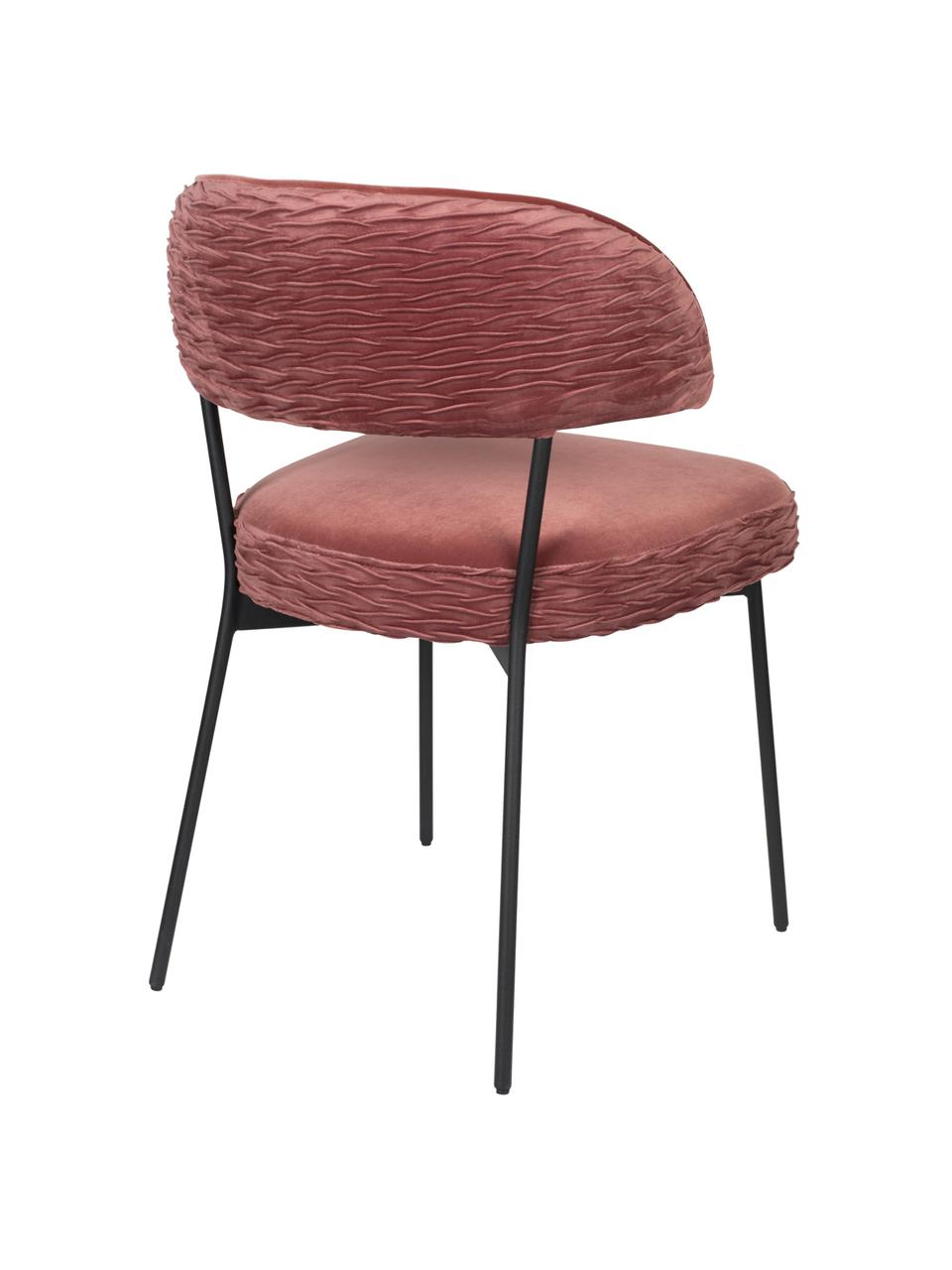 Chaise velours rembourré The Winner Takes It All, Rose vif
