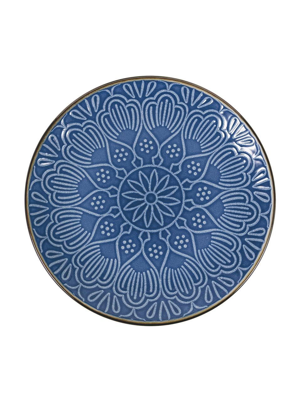 Komplet naczyń Baku, 18 elem., Ceramika, Niebieski, Komplet z różnymi rozmiarami