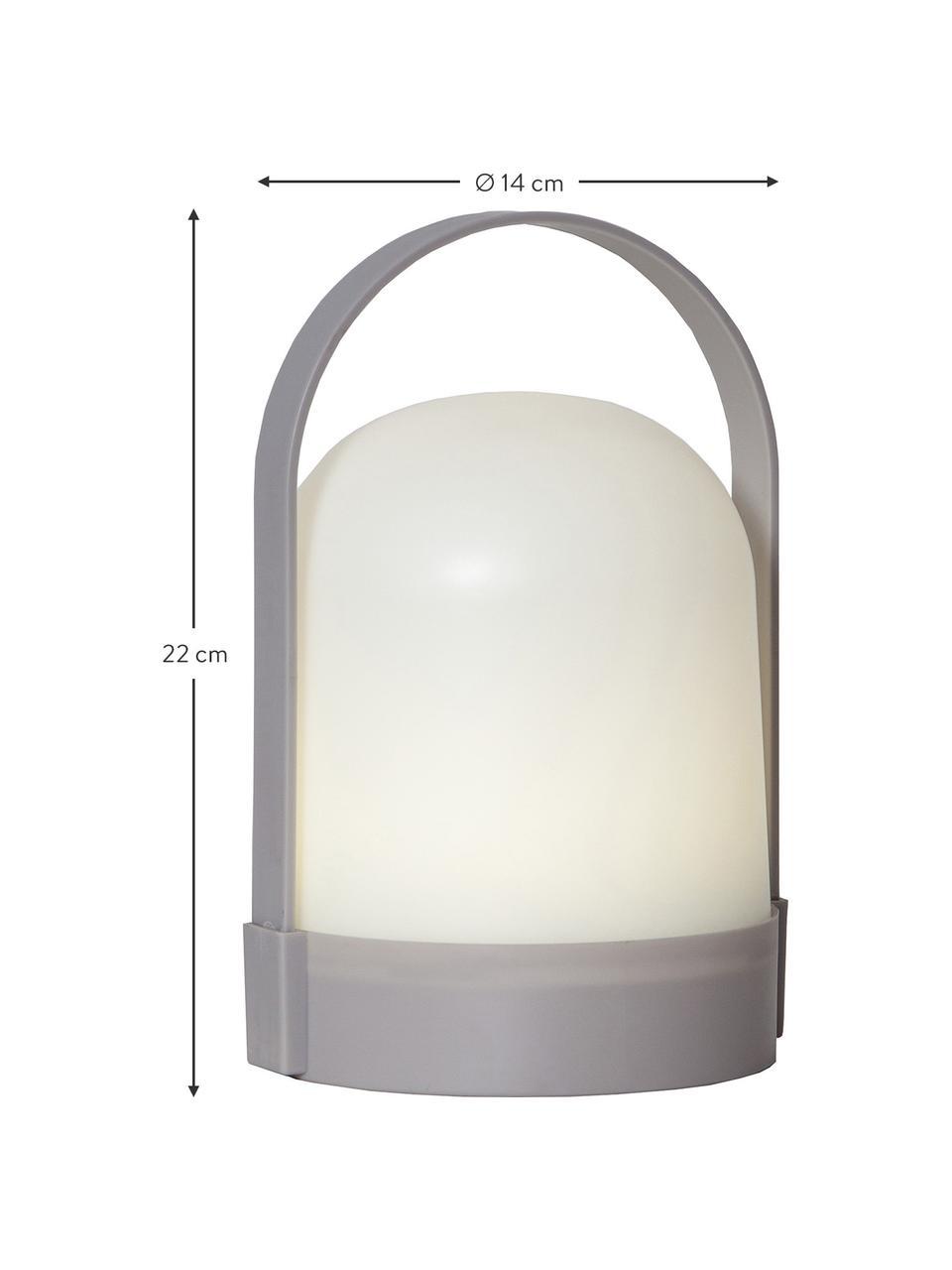 Přenosná venkovní stolní lampa s časovačem Lette, Bílá, šedá