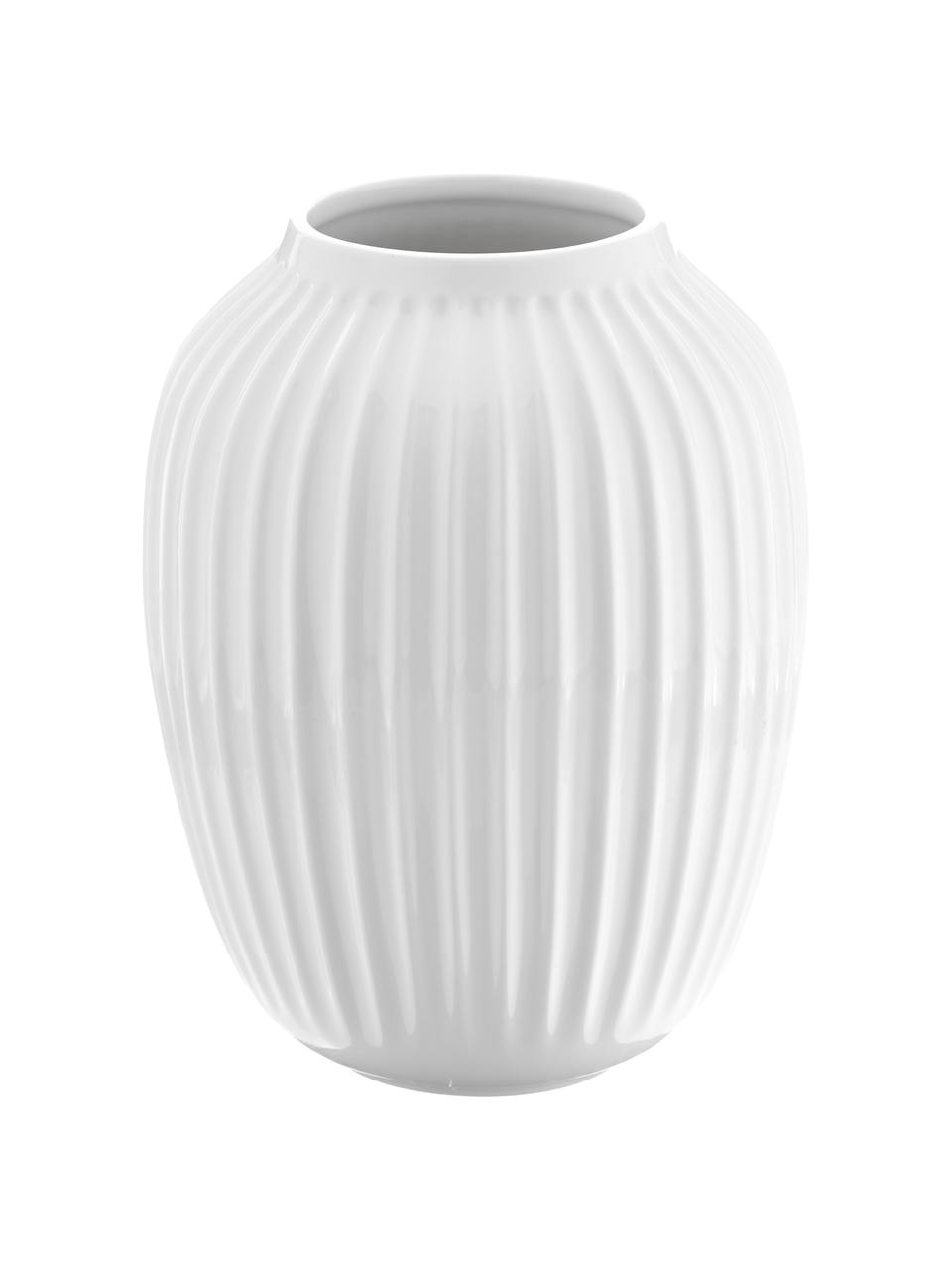 Vaso di design fatto a mano Hammershøi, Porcellana, Bianco, Ø 20 x Alt. 25 cm