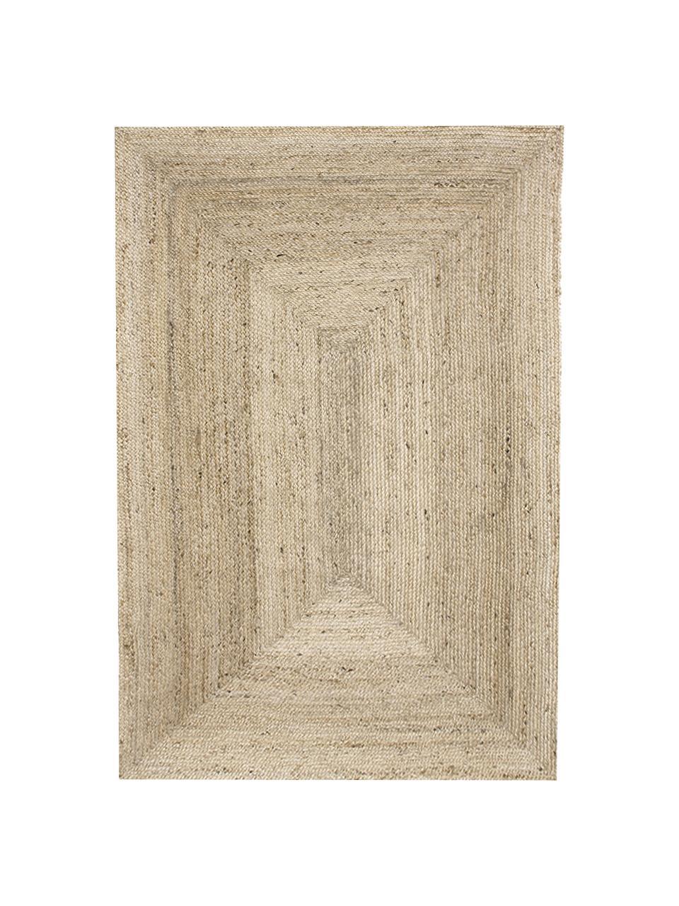 Handgemaakt juten vloerkleed Sharmila, Beige, B 300 x L 400 cm (Maat XL)