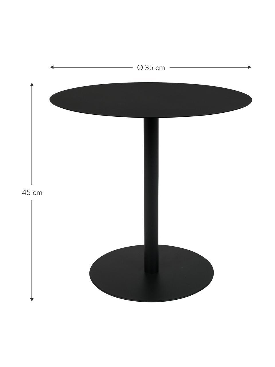 Table d'appoint en métal Snow, Noir