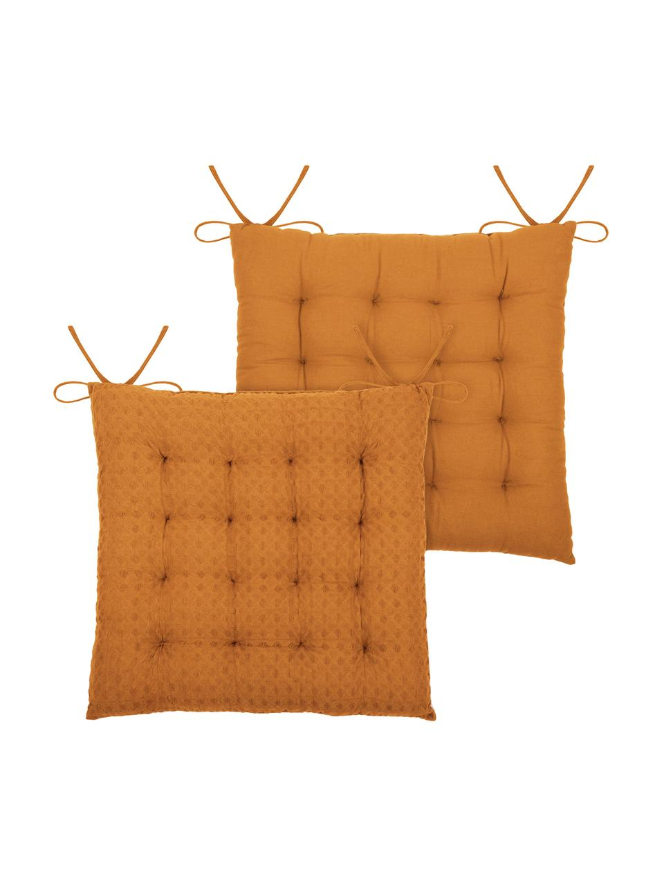 Coussin de chaise 40x40 jaune moutarde Gopher, Jaune moutarde