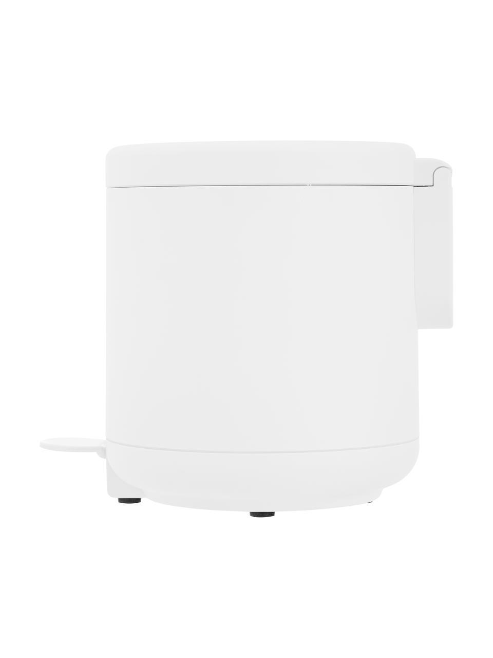 Kosz na śmieci z funkcją pedału Ume, Tworzywo sztuczne (ABS), Biały, matowy, Ø 20 x W 22 cm