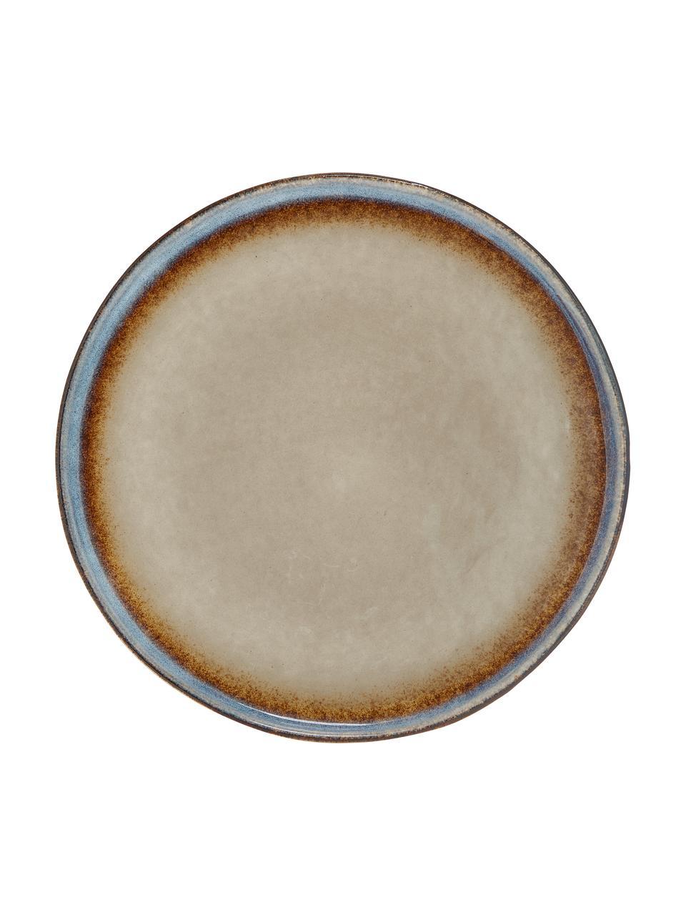 Ręcznie wykonany talerz duży Nomimono, 2 szt., Kamionka, Szary, greige, Ø 27 cm