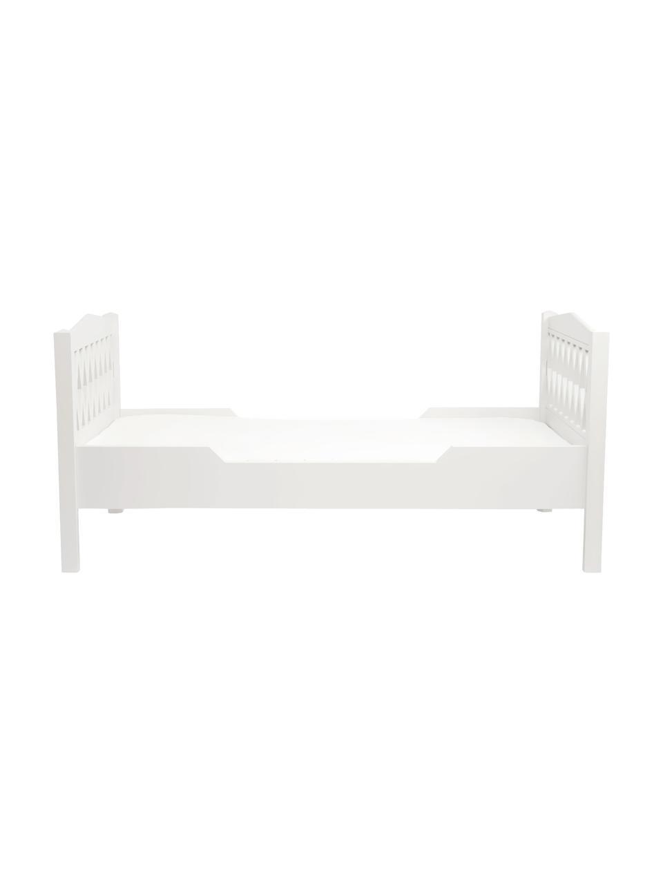 Łóżko dla dzieci Harlequin, Drewno lakierowane, Biały, S 100 x D 170 cm