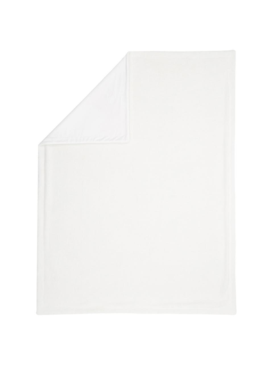 Teddy-Plaid Mille, Vorderseite: 100% Polyester (Teddyfell, Rückseite: 100% Polyester, Creme, 150 x 200 cm