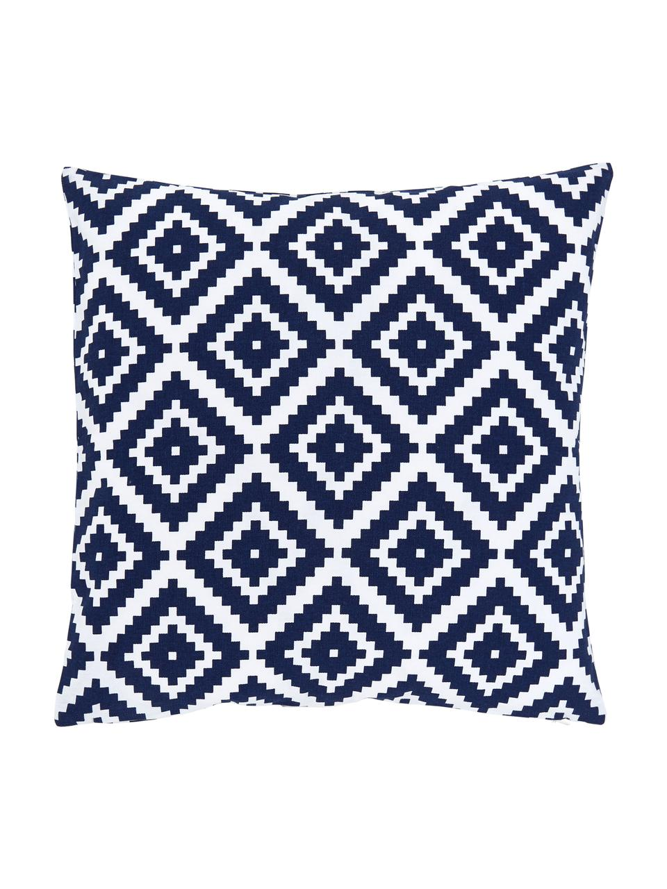 Kissenhülle Miami in Dunkelblau/Weiß, 100% Baumwolle, Blau, 45 x 45 cm