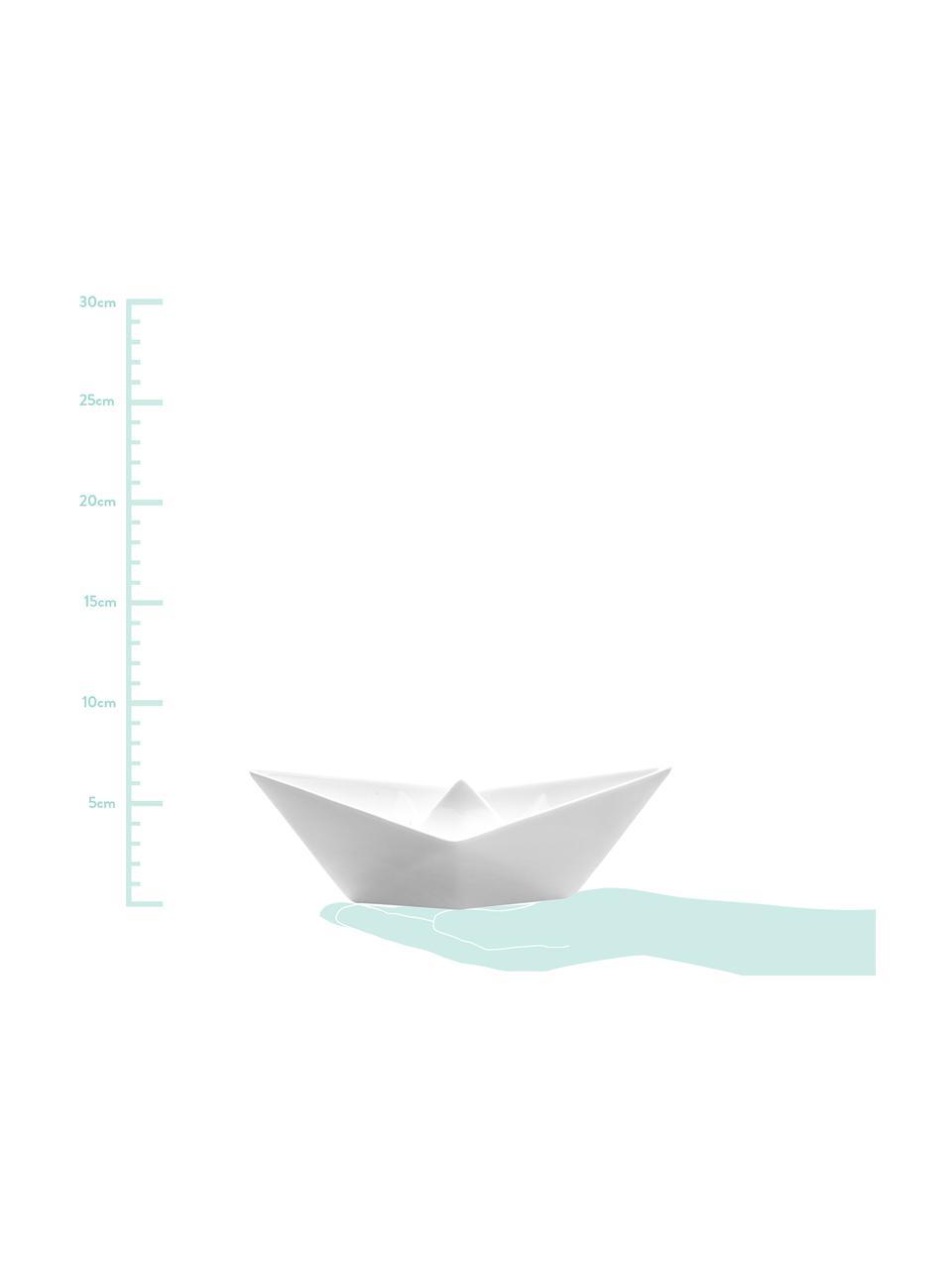 Set 3 ciotole decorative My Boat, Porcellana, Bianco, Set in varie misure