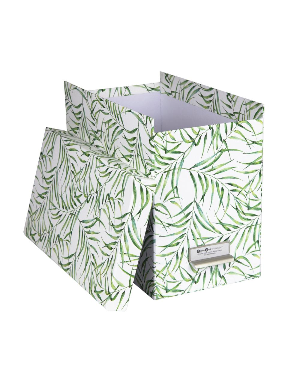 Set scatola-archivio per documenti Johan 9 pz, Organizer: solido, cartone laminato, Bianco, verde, Larg. 19 x Alt. 27 cm