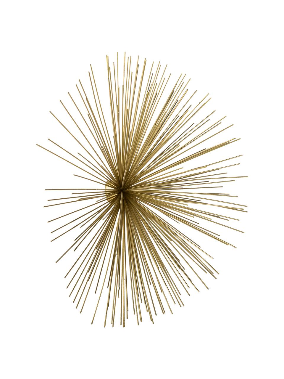Komplet dekoracji ściennych z metalu Ray, 3 elem., Metal, Odcienie złotego, Komplet z różnymi rozmiarami