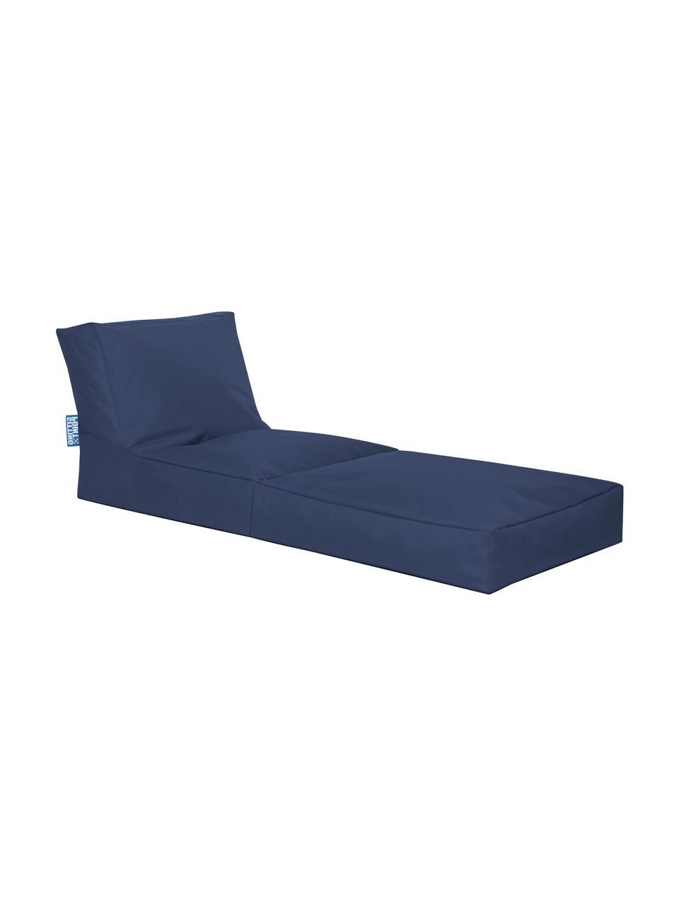 Poltrona letto da giardino Pop Up, Rivestimento: 100% poliestere All'inter, Blue jeans, Larg. 70 x Alt. 90 cm