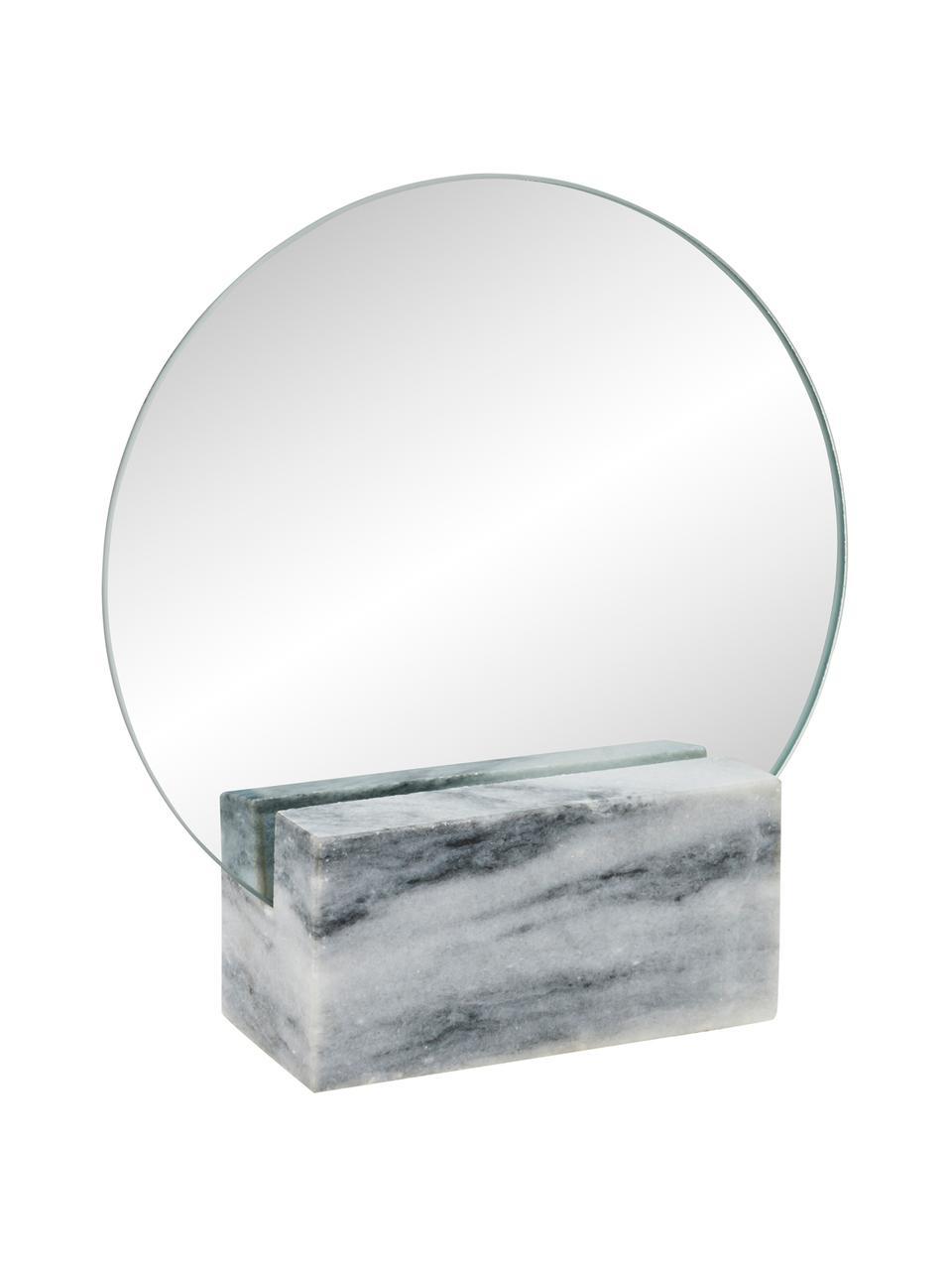 Mramorové kosmetické zrcadlo Humana, Šedá