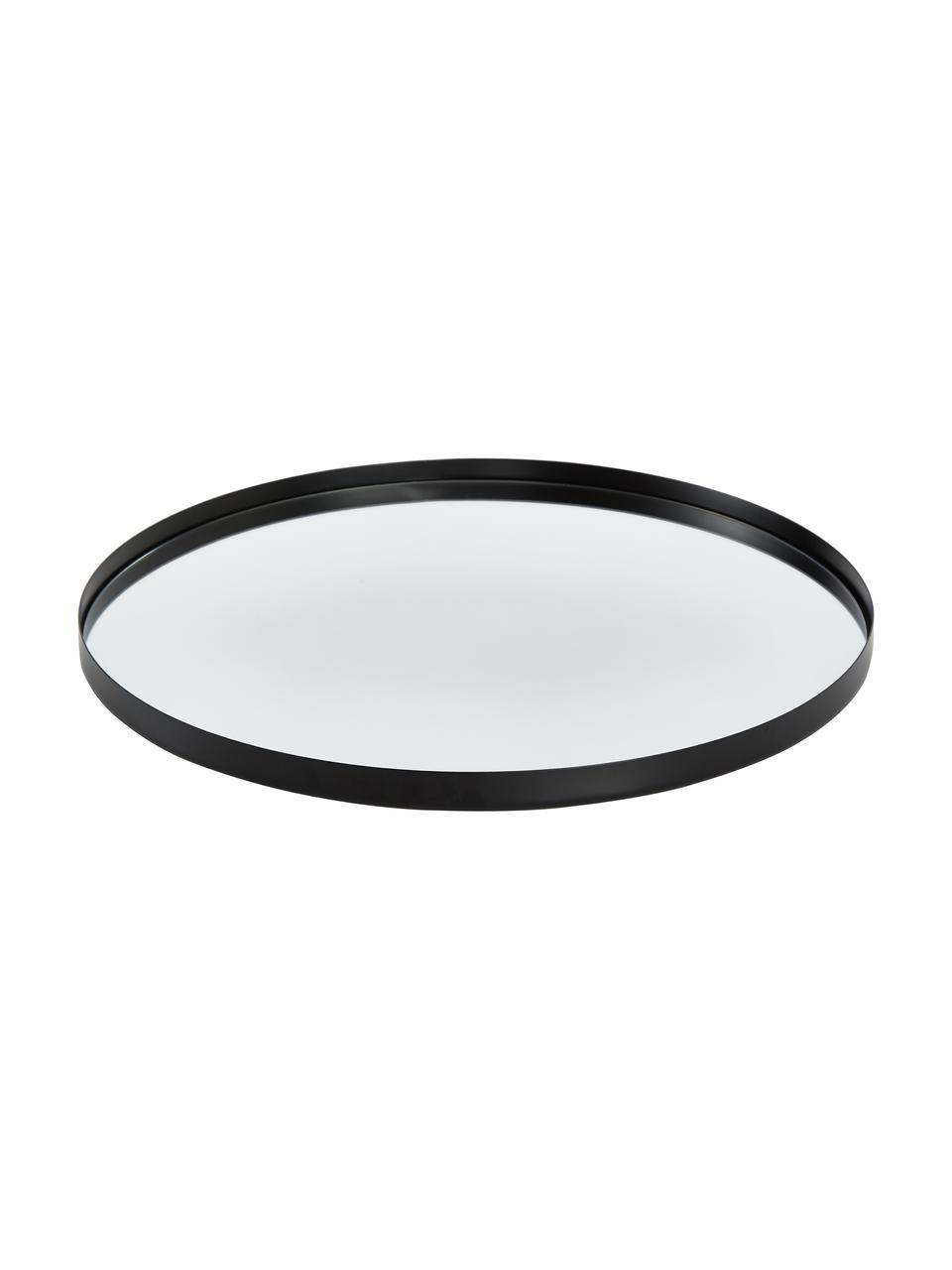 Espejo de pared redondo Ivy, Espejo: cristal, Reverso: tablero de fibra de densi, Negro, Ø 40 cm