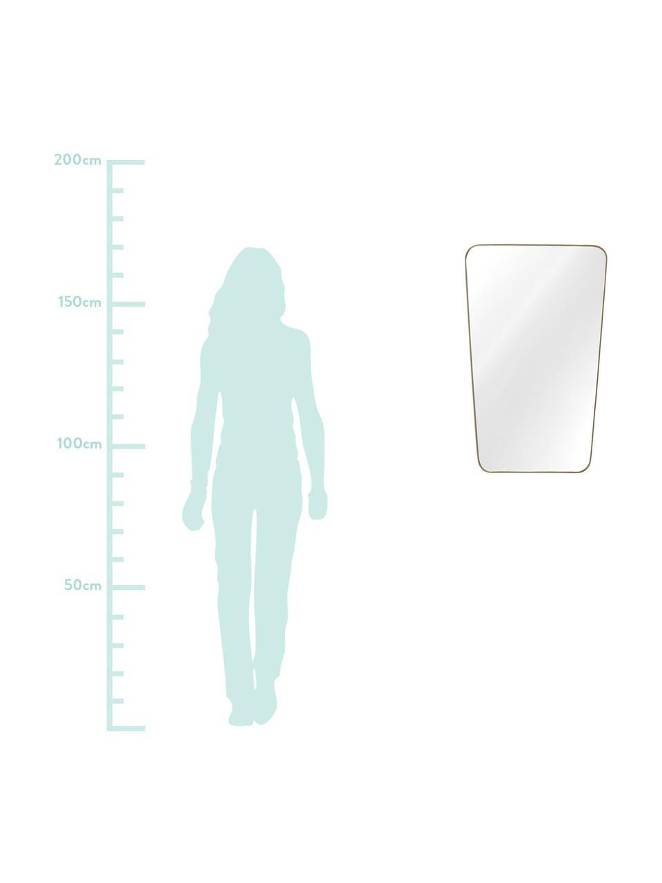Lustro ścienne Adrienne, Mosiądz, S 50 x W 80 cm