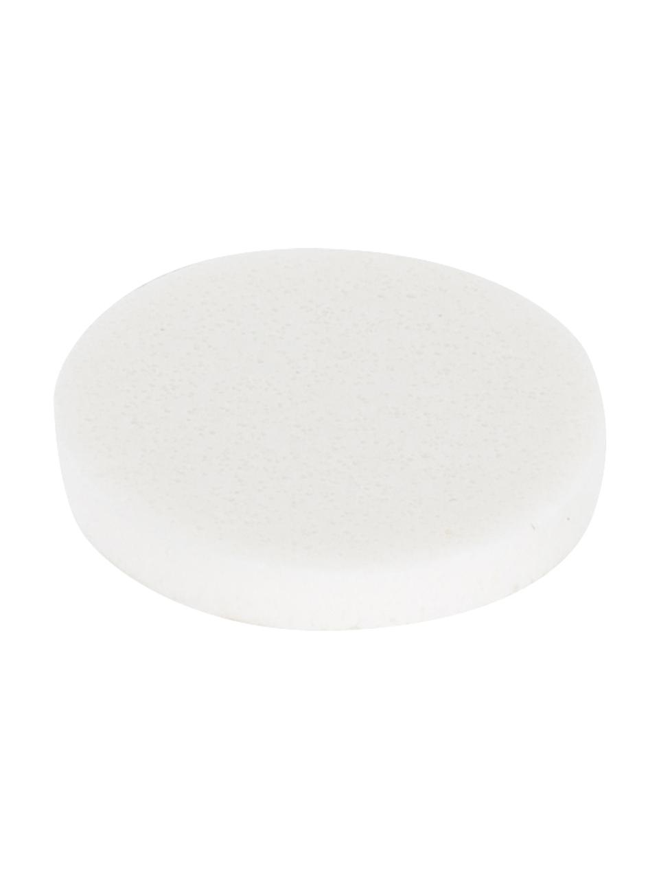 Mesa auxiliar con efecto mármol Lesley, Tablero de fibras de densidad media(MDF), recubierto en melanina, Blanco, An 45 x Al 50 cm