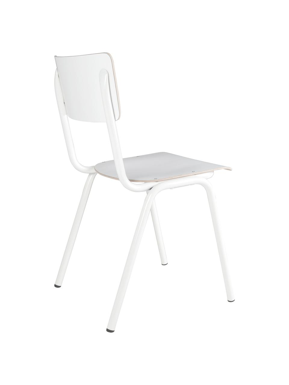 Chaises Back to School, 4pièces, Blanc