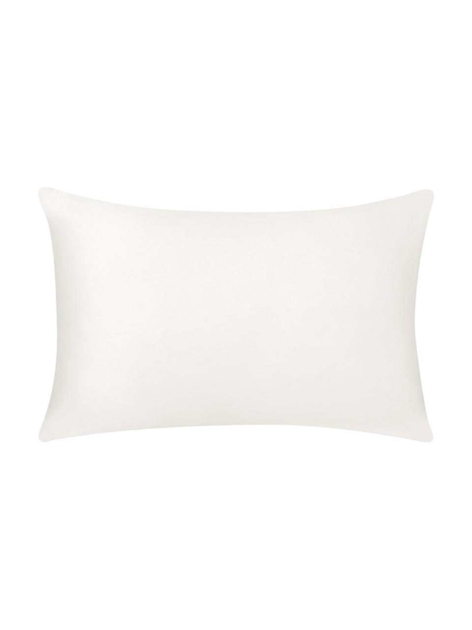Baumwoll-Kissenhülle Mads in Weiß, 100% Baumwolle, Cremeweiß, 30 x 50 cm