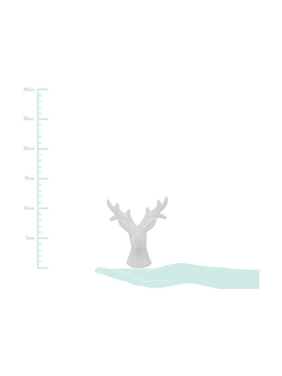 Deko-Objekt-Set Thore, 2-tlg., Porzellan, Weiß, 11 x 12 cm