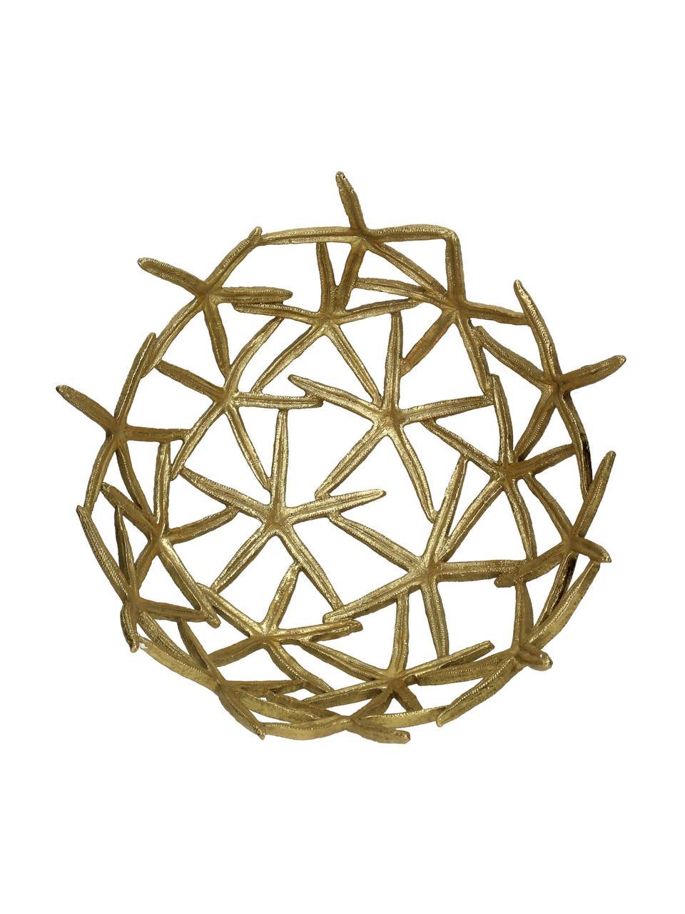 Decoratieve schaal Seastar, 15% polyresin, 35% acryl, 25% polyester, 25% kwartszandvulling, Goudkleurig, 35 x 36 cm