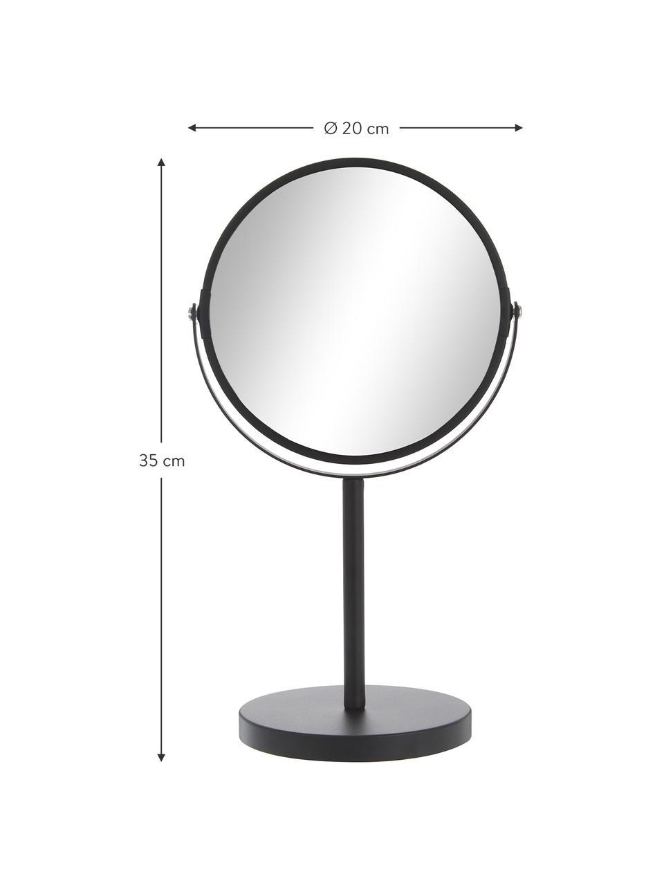 Kosmetikspiegel Classic mit Vergrößerung, Rahmen: Metall, Spiegelfläche: Spiegelglas, Rahmen: SchwarzSpiegelfläche: Spiegelglas, Ø 20 x H 35 cm