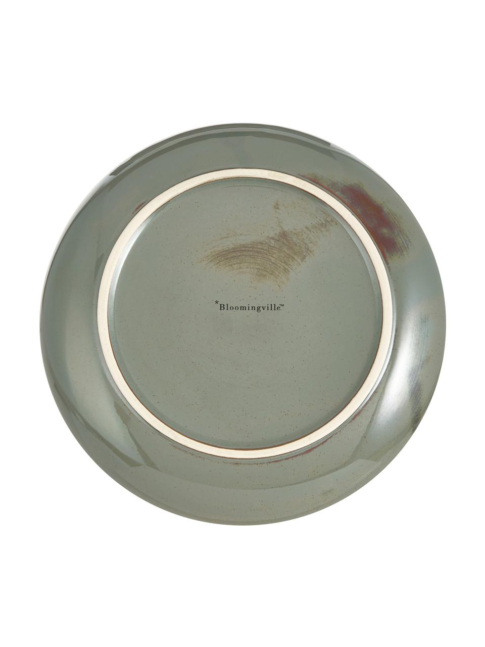 Servierschale Pixie aus Steingut, Ø 28 cm, Steingut, Grüntöne, Ø 28 x H 7 cm