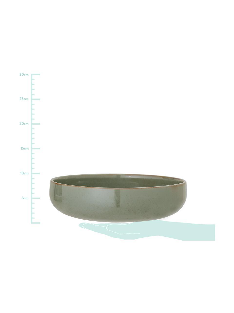 Servierschale Pixie, Ø 28 cm, Steingut, Grüntöne, Ø 28 x H 7 cm
