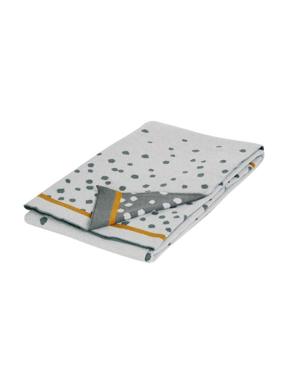 Strickdecke Happy Dots, Webart: Jacquard, Grau, 80 x 100 cm