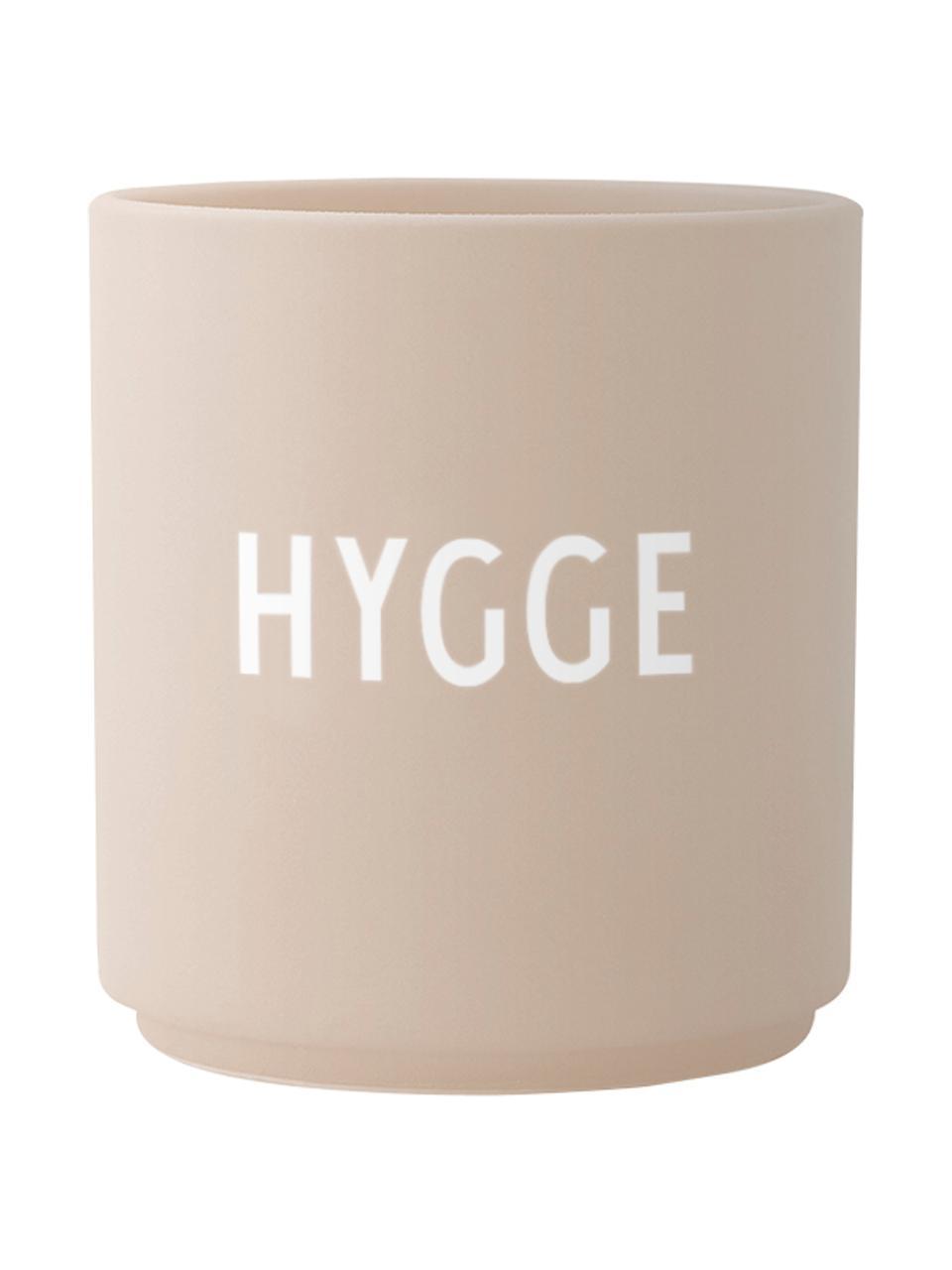 Tazza di design beige Favorite HYGGE, Fine Bone China (porcellana), Beige, bianco, Ø 8 x Alt. 9 cm